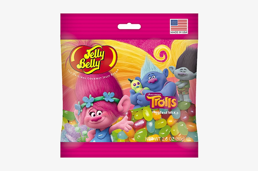 Jelly Belly Dreamworks Trolls Hugfest Mix Jelly Beans - Jelly Belly, transparent png #2152315