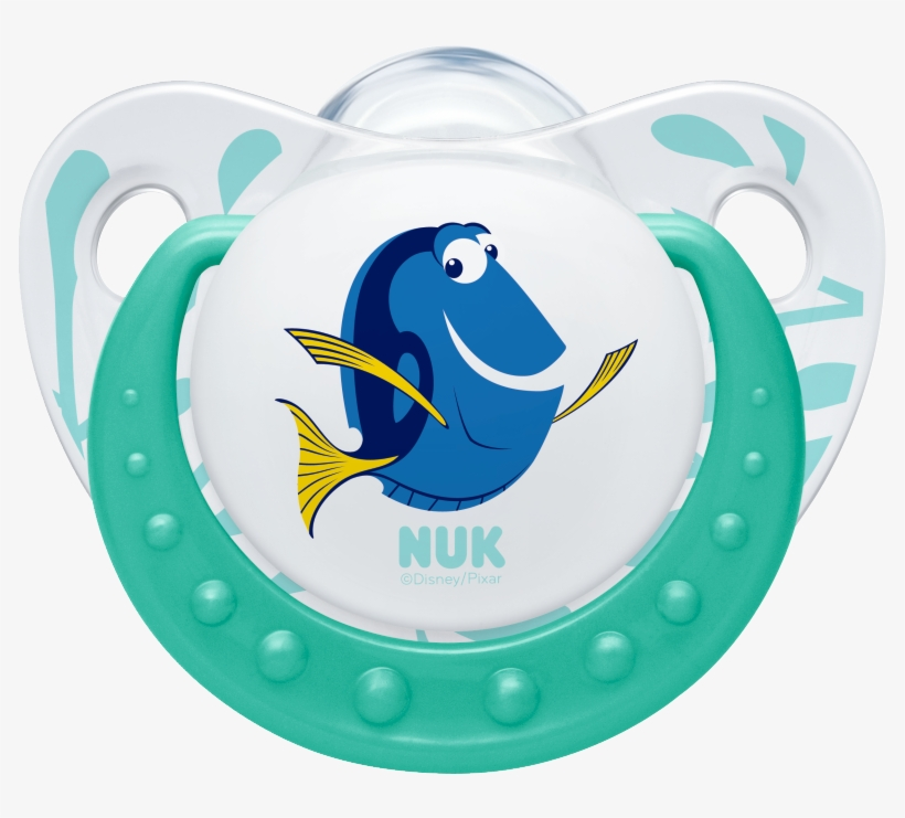Nuk Disney Finding Dory Soother - Nuk Classic Finding Dory Silicone Soothers 0-6 Months, transparent png #2154050