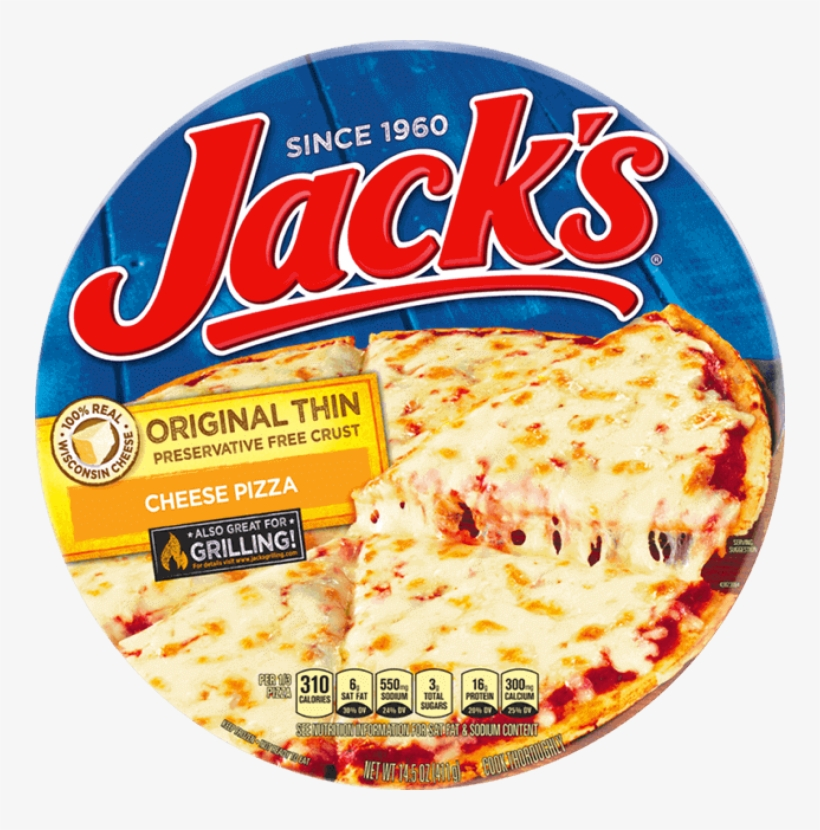 Jack's Original Thin Crust - Jack's Pepperoni Pizza Nutrition Facts, transparent png #2154419