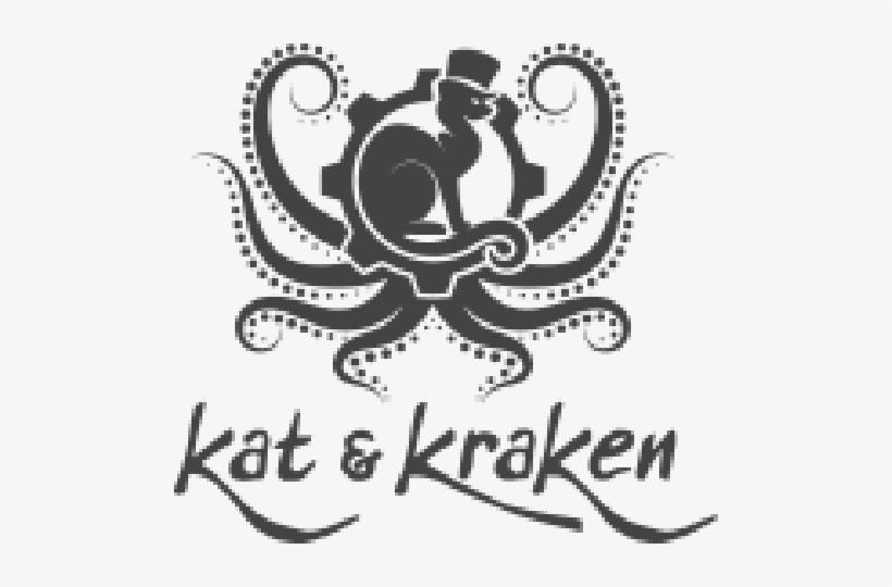 Kat And Kraken - Octopus Vinyl Sticker Wall Art, Black, transparent png #2159423