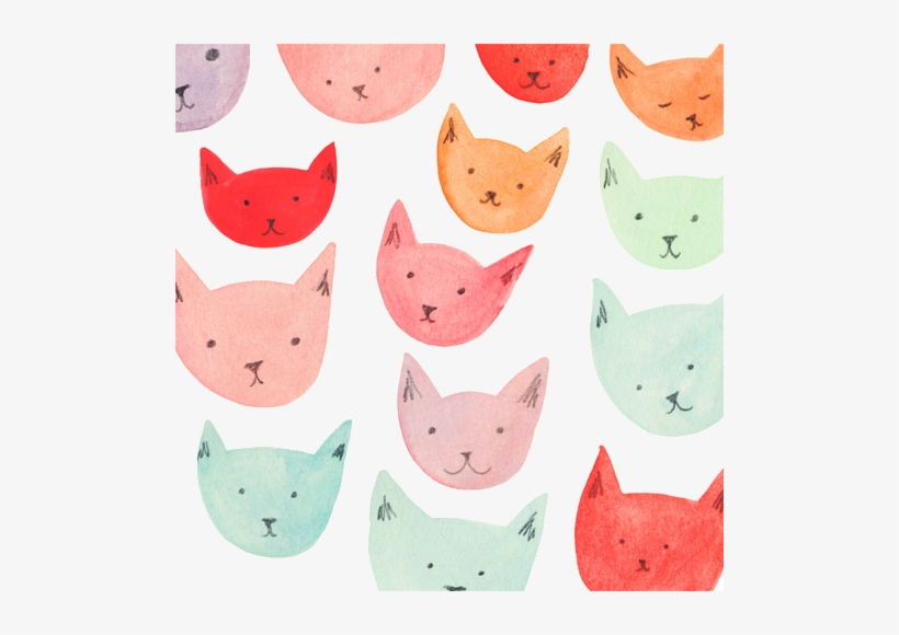 Similar Galleries Cat Collage Wallpaper Cats Tumblr - Pink Cats Tumblr Background, transparent png #2159583