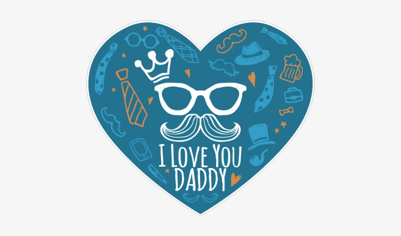 I love you daddy stickers dia del padre free - I love you daddy download ...