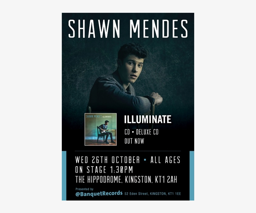 Wednesday 26th October At The Hippodrome, On Stage - Shawn Mendes: Treat You Better (2-track) Cd Maxi, transparent png #2160385