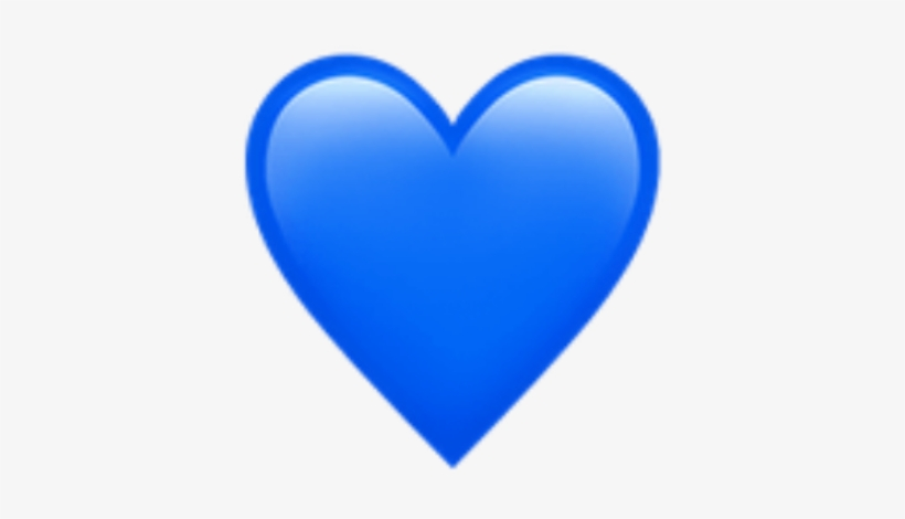 Blue Heart Emoji Art Photography Decoration Bynisha - Blue Heart Emoji Transparent, transparent png #2161662