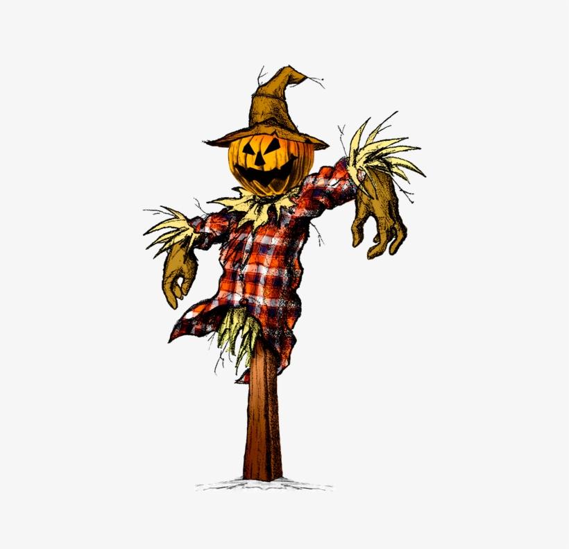 Scarecrow Vector Scary - Clip Art Creepy Scarecrow, transparent png #2161889