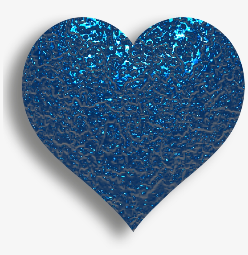 B *✿* I Love Heart, With All My Heart, Happy - Blue Glitter Heart Emoji, transparent png #2161946