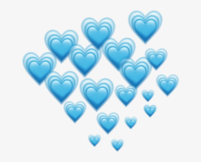 Blue Hearts Heart Emoji Emojis Freetoedit Remixit - Blue Hearts Emoji, transparent png #2162458