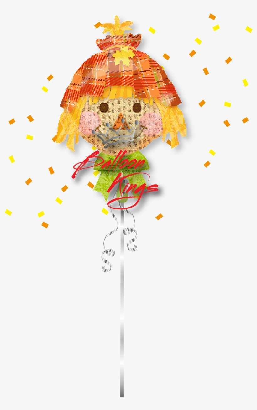 """Happy Scarecrow - 26"""" Happy Scarecrow Balloon - Mylar Balloons Foil, transparent png #2162604"""