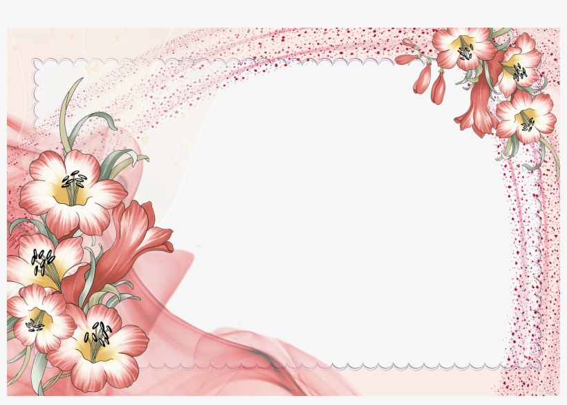Wallpaper Photo Frame Design - Flower Borders And Frames, transparent png #2163656