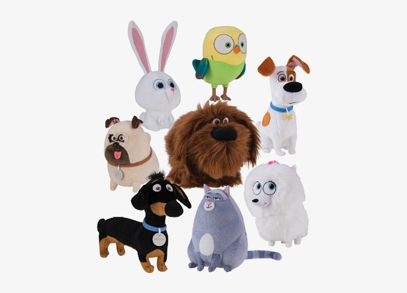 7″ Secret Life Of Pets Assortment Dozen Action Enterprises - Secret Life Of Pets Plush Collection, transparent png #2164450