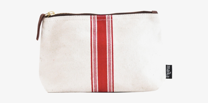 Travel Pouch - Red Stripe - Maika Red Stripe Large Pouch (red Stripe Large), transparent png #2164995