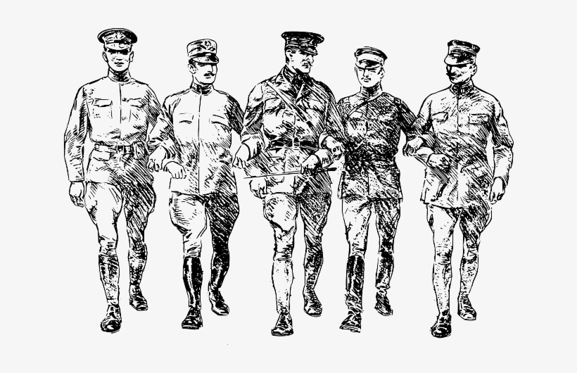 Soldiers Fraternity Men Group Military March World War 1 Png
