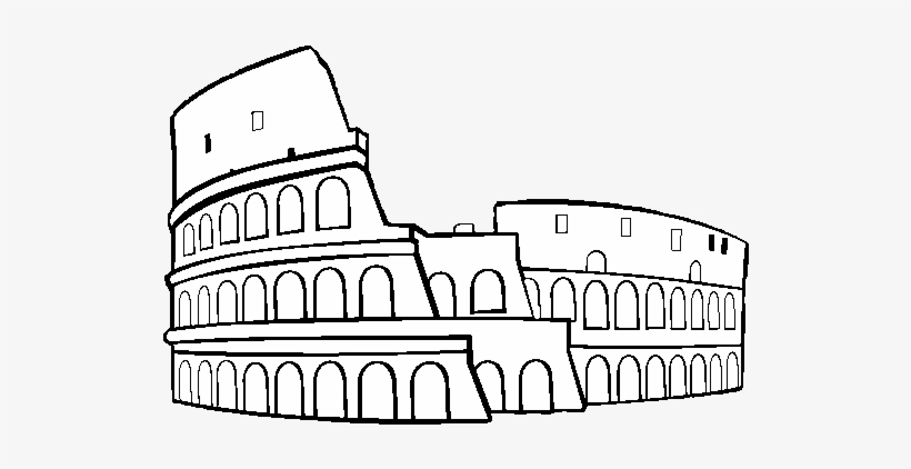 Colosseum Coloring Pages Google Picture Library Download Easy To