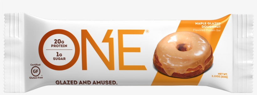 One Bars Maple Glazed Doughnut Protein Bar - One Maple Donut Protein Bar, transparent png #2170830