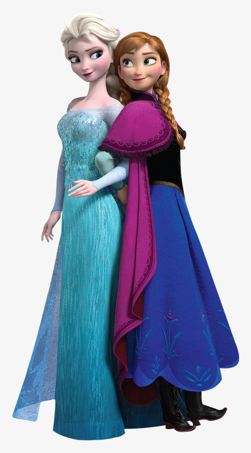 Frozen Disney Anna Elsa01 - Frozen Elsa Ja Anna, transparent png #2171176