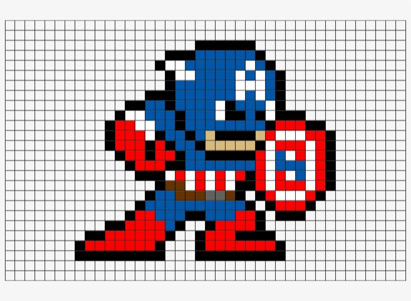 Captain America Perler Bead Pattern Free Transparent Png Download Pngkey