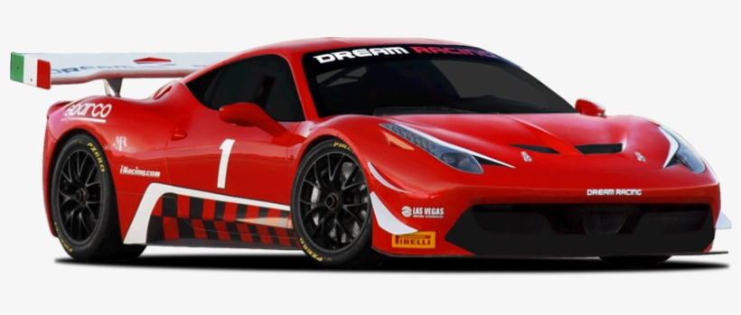 Race A Ferrari Las Vegas - Red Racing Car Png, transparent png #2172398