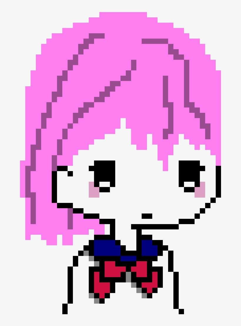 Cute Anime Girl Pixel Art Free Transparent Png Download