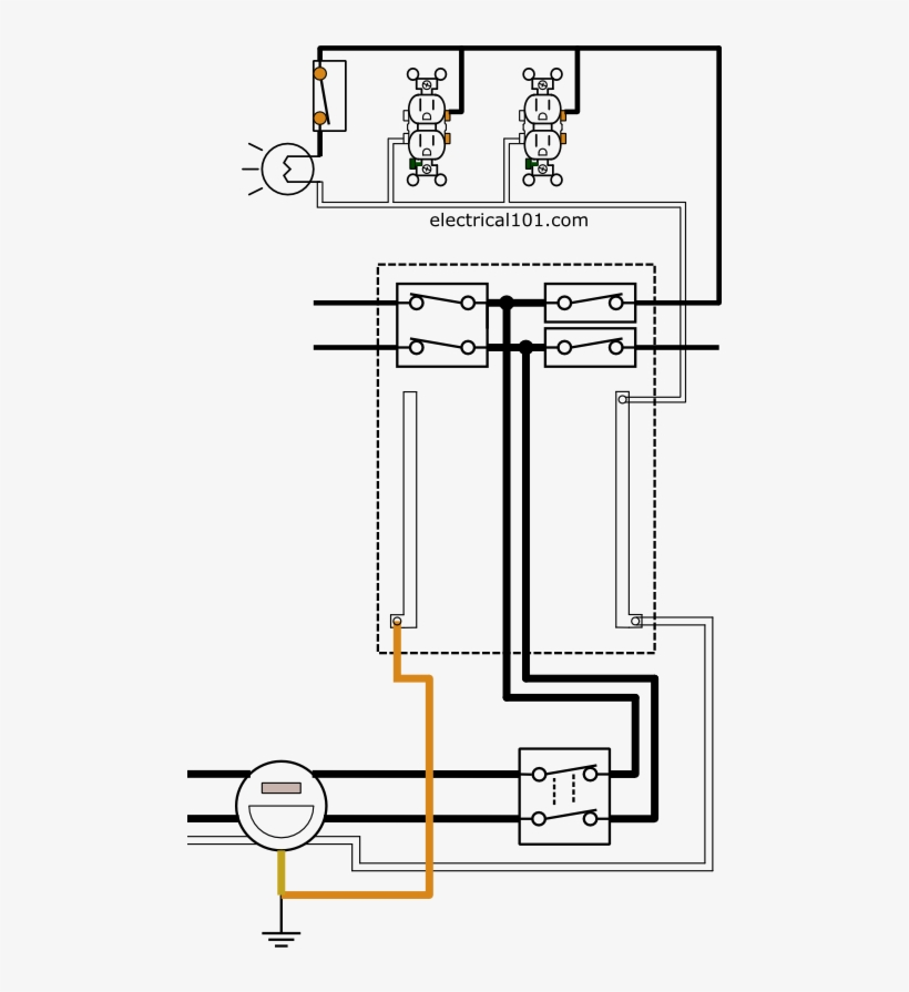electrical panel and circuit wiring diagram  electrical