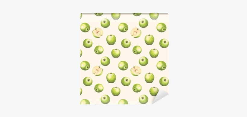 Hand-drawn Watercolor Seamless Pattern With Green Apples - Watercolor Painting, transparent png #2178376