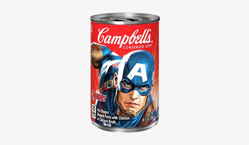 Marvel Avengers Soup Captain America - Campbell's Condensed Soup, Golden Mushroom - 10.75, transparent png #2178402