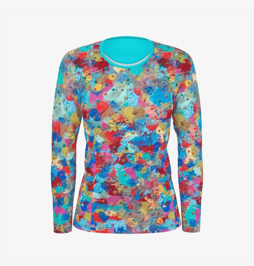 Women Long Sleeve Shirt - Long-sleeved T-shirt, transparent png #2179983