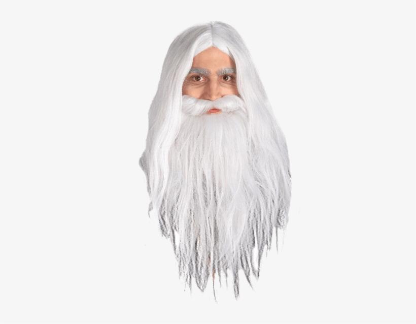 Adult Gandalf Beard & Wig Set - Gandalf Beard, transparent png #2183442