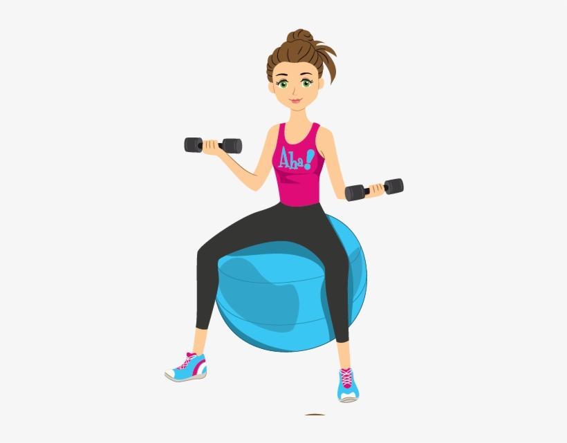 Fitness Cartoon Png Image Download - Exercising Cartoon Images Png, transparent png #2184167