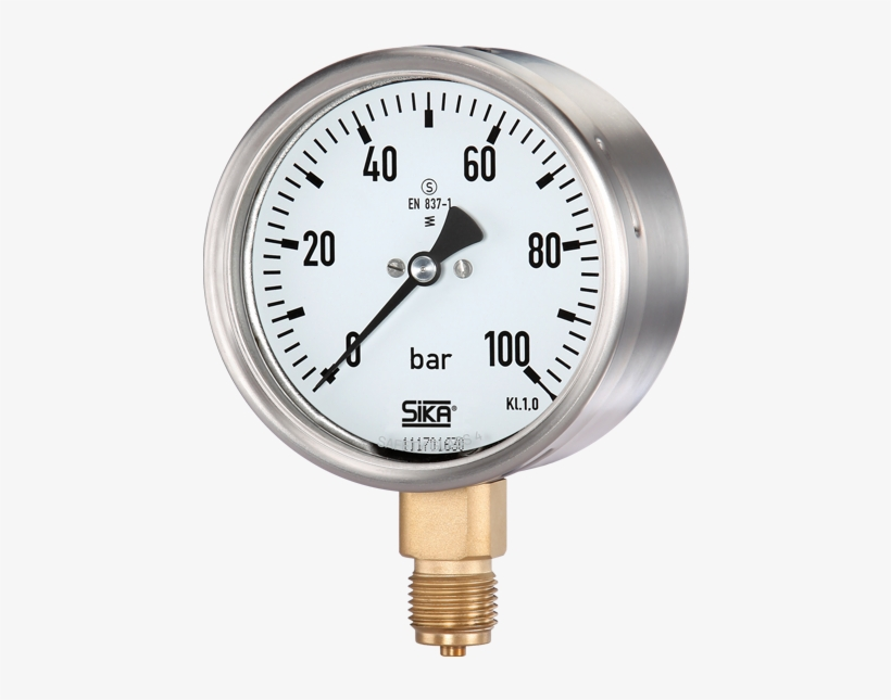 """Mre-s Bourdon Tube Pressure Gauge - Vdo Mechanical Pressure Gauge 0-100 Psi 1-1/2"""", transparent png #2185057"""