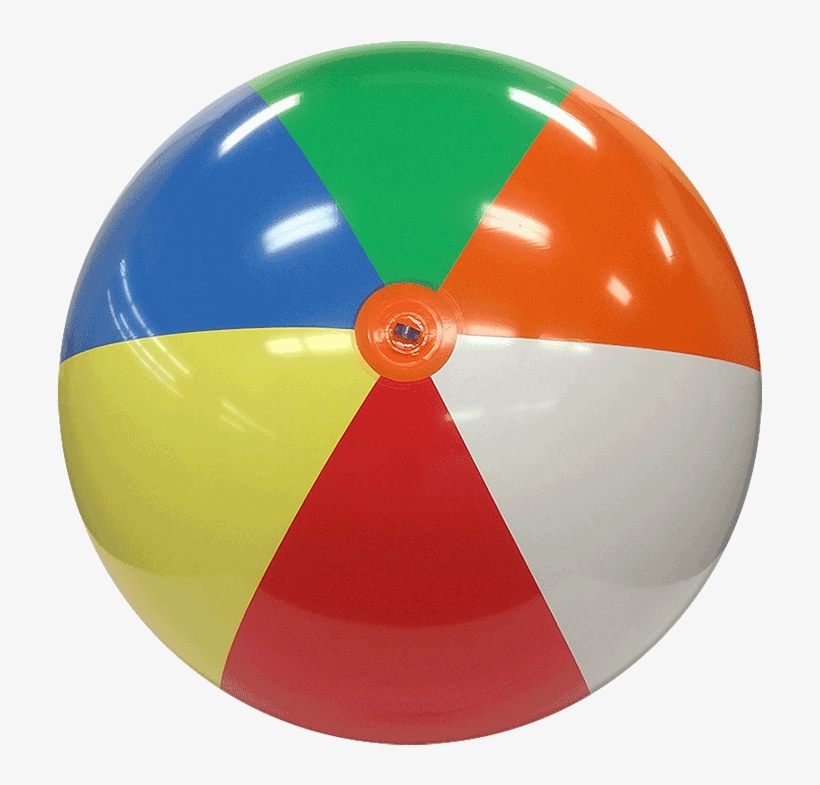 8 Ft Deflated Size Multicolor Beach Ball - Beach Ball Transparent Png, transparent png #2185343