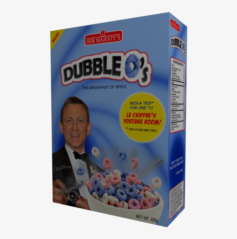 Dubble-osfront - James Bond Cereal Box, transparent png #2185996