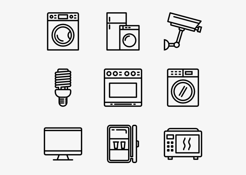 Household Appliances - School Icons Vector Png, transparent png #2188333