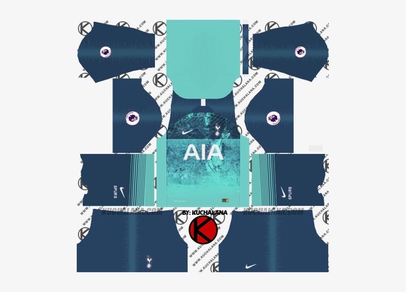 Tottenham Hotspur 2018/19 Kit - Kit Chelsea Dream League Soccer 2018, transparent png #2189152
