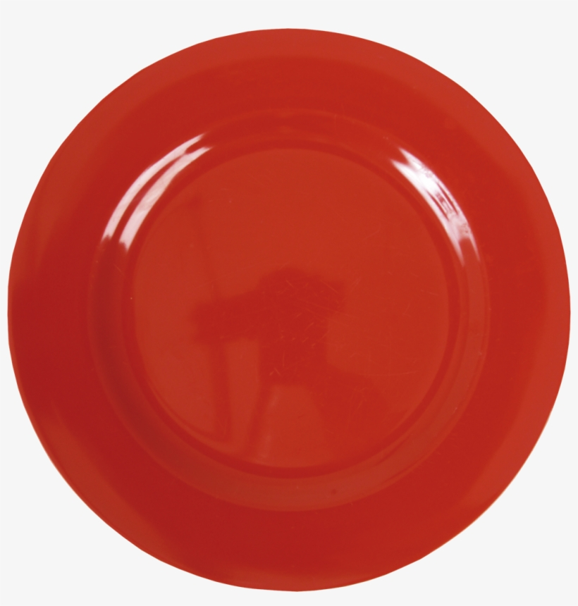 Red Melamine Round Dinner Plate By Rice Dk Vibrant - Melamine Dinner Plate In Red By Rice Dk, transparent png #2190051