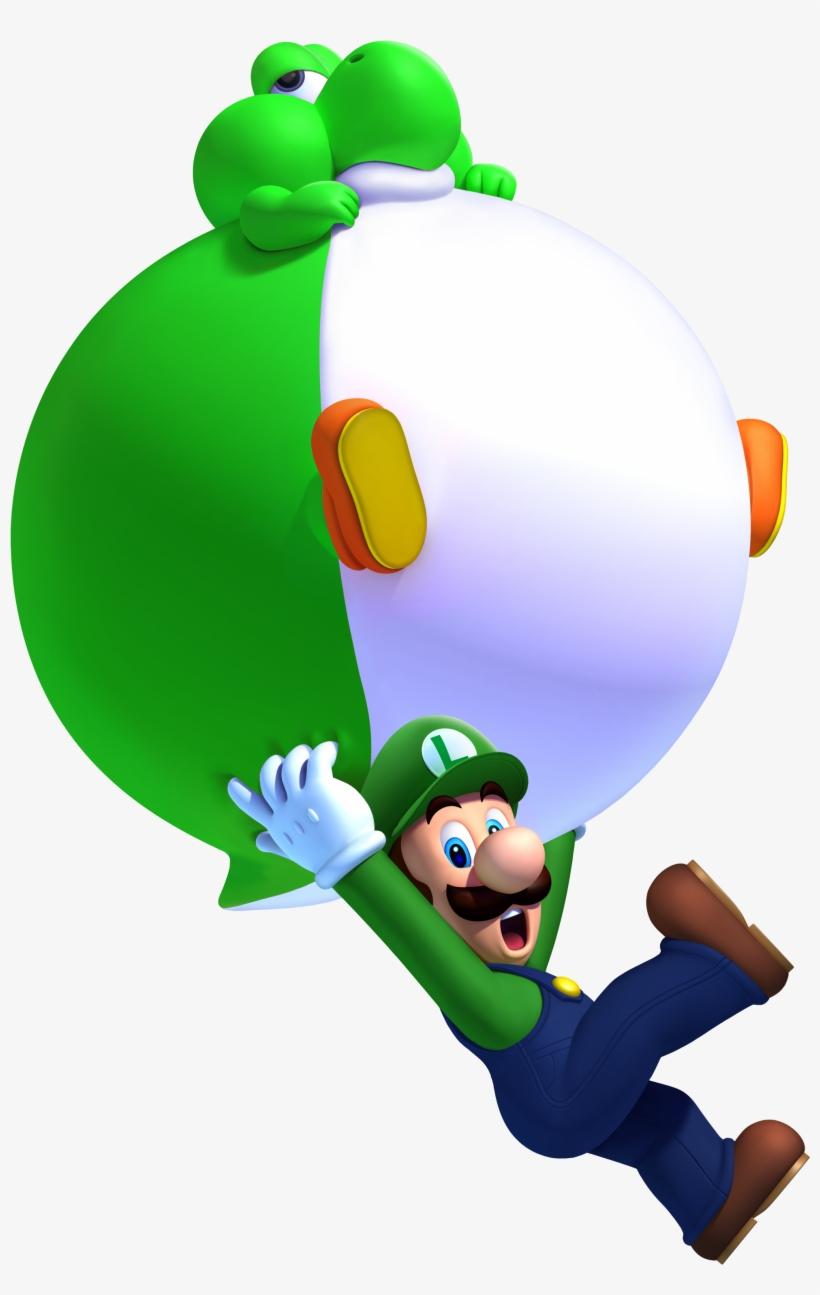 Green Balloon Baby Yoshi - New Super Mario Bros U Baby Yoshi, transparent png #2191606