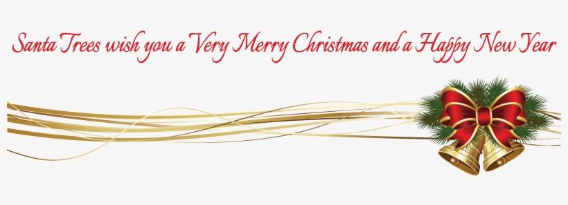Christmas Bells Decoration - Merry Christmas Decoration Png, transparent png #2192112