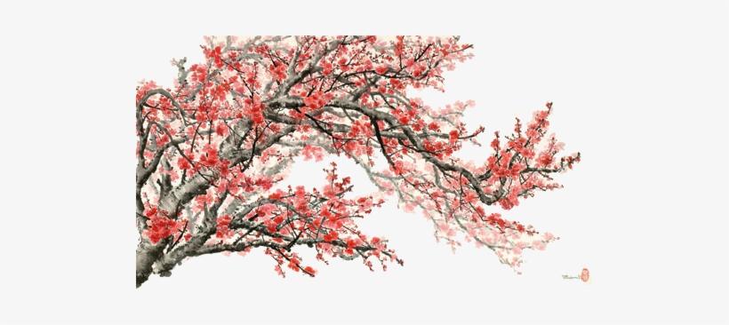 China Flag Banner - Cherry Blossom, transparent png #2194005