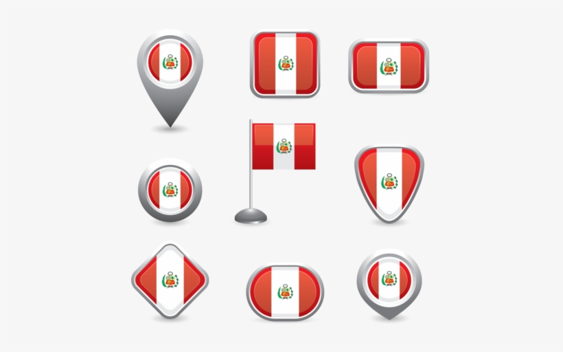 Peru Flag Symbol - Free World Flags Icons Psd, transparent png #2195796