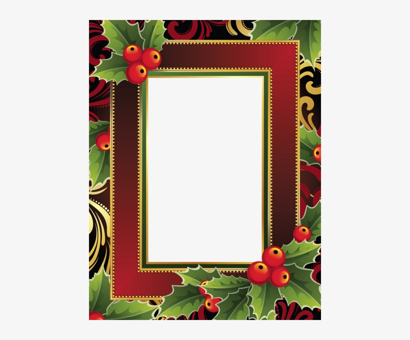 Pin By Pauline Zinie On Frames/borders/corner Accents - Christmas Cartoon Rectangle Frame, transparent png #2196642