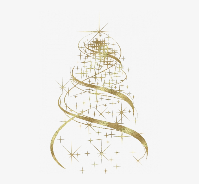 Pin By R Artis On Christmas In 2018 - Gold Christmas Tree Transparent Background, transparent png #2197232
