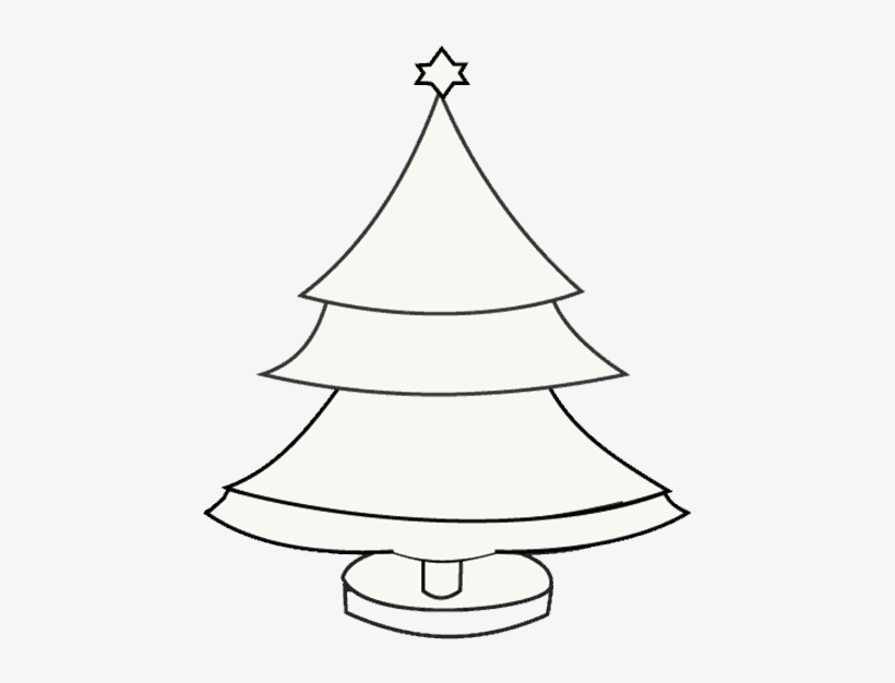 How To Draw Christmas Tree - Christmas Tree, transparent png #2197373