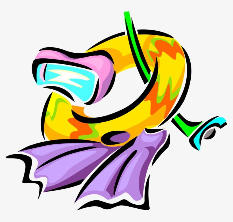 Swim Clip Snorkeler - Inner Tube Clip Art, transparent png #2198831