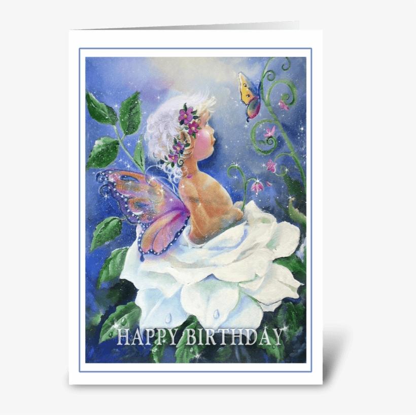 Happy Birthday, Garden Fairy Greeting Card - Garden Happy Birthday Greetings, transparent png #221405