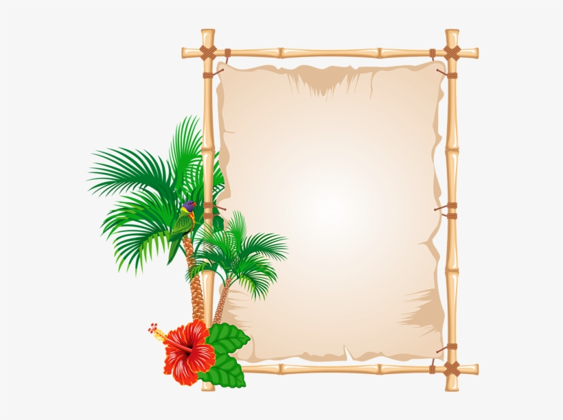 Tropical Frame Cliparts - Frames And Borders Design, transparent png #221427