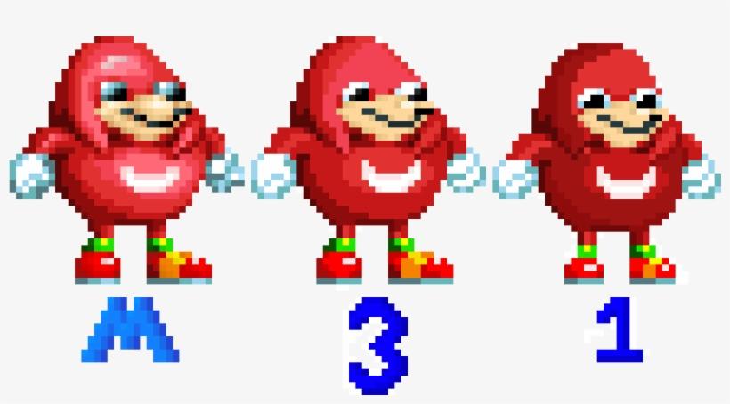 Ugandan Knuckles Sprites For Sonic 1, Sonic 3, And - Ugandan