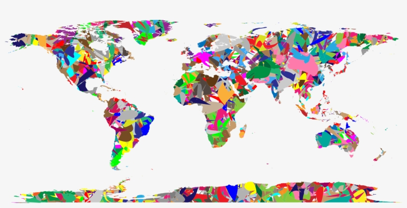 This Free Icons Png Design Of Modern Art World Map, transparent png #222311