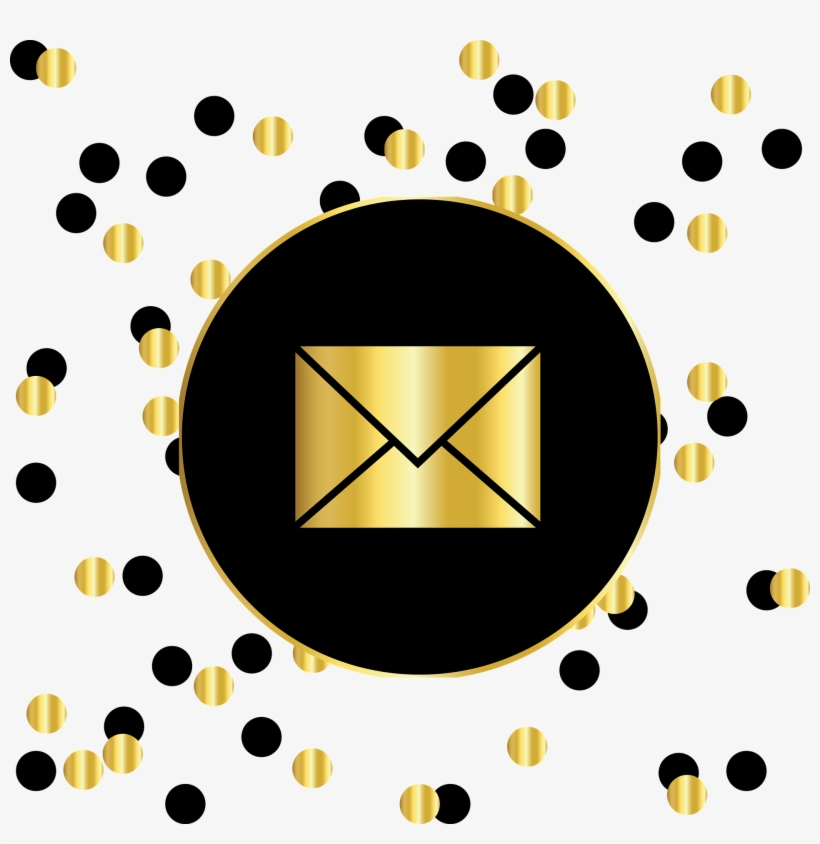 Email Gold And Black Circles - Instagram Logo Black And Gold, transparent png #222335