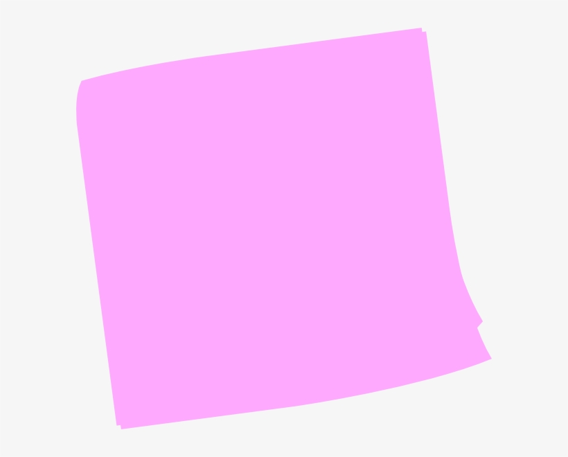 Post-it Clipart Pink - Pink Post It Note Png, transparent png #222575