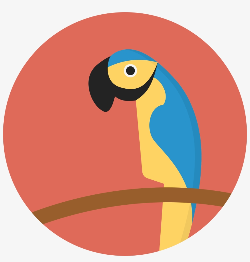 File Creative Tail Animal Wikimedia Commons Open - Parrot In A Circle, transparent png #222939
