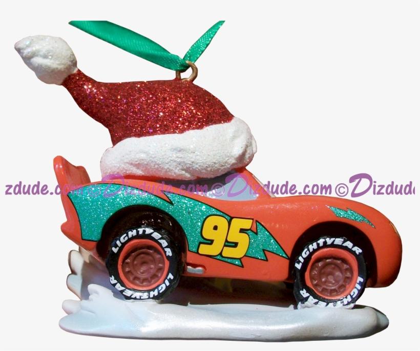 """Side Of The Disney Pixar """"cars"""" Lightning Mcqueen Christmas - Lighting Mcqueen Christmas Prints, transparent png #223458"""